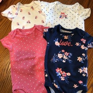 Set of Four Carter's Onesies